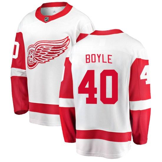 Kevin Boyle Detroit Red Wings Breakaway Away Fanatics Branded Jersey - White