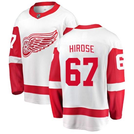 Taro Hirose Detroit Red Wings Breakaway Away Fanatics Branded Jersey - White