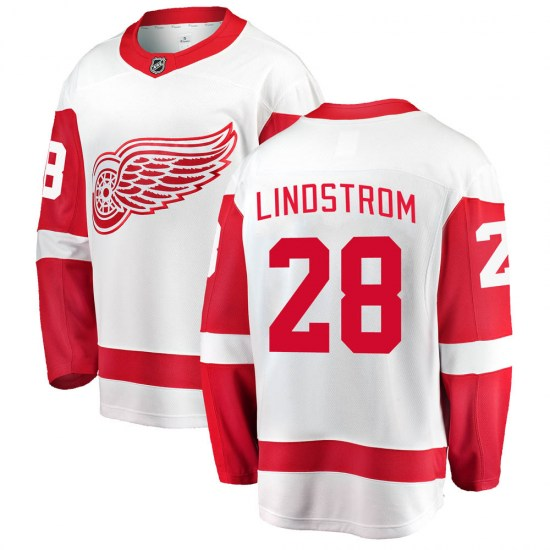 Gustav Lindstrom Detroit Red Wings Breakaway Away Fanatics Branded Jersey - White