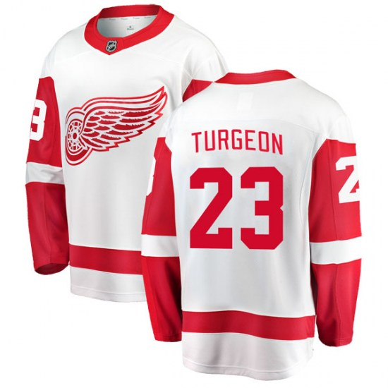 Dominic Turgeon Detroit Red Wings Breakaway Away Fanatics Branded Jersey - White