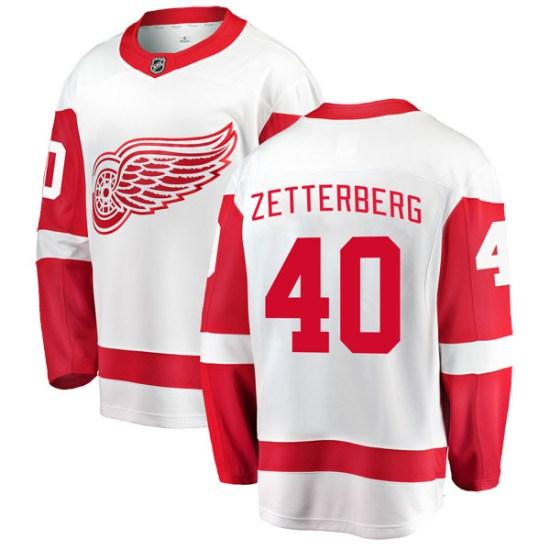 Henrik Zetterberg Detroit Red Wings Breakaway Away Fanatics Branded Jersey - White