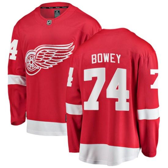 Madison Bowey Detroit Red Wings Breakaway Home Fanatics Branded Jersey - Red