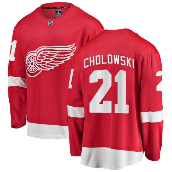 Dennis Cholowski Detroit Red Wings Breakaway Home Fanatics Branded Jersey - Red