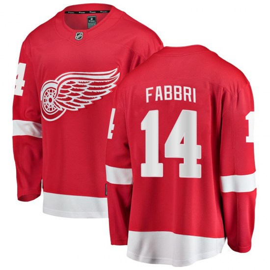 Robby Fabbri Detroit Red Wings Breakaway Home Fanatics Branded Jersey - Red