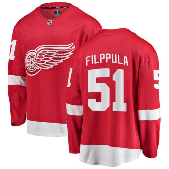 Valtteri Filppula Detroit Red Wings Breakaway Home Fanatics Branded Jersey - Red