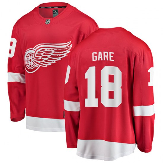 Danny Gare Detroit Red Wings Breakaway Home Fanatics Branded Jersey - Red