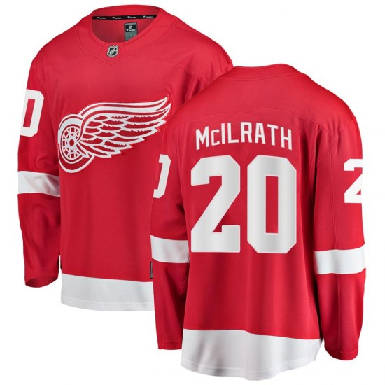Dylan McIlrath Detroit Red Wings Breakaway Home Fanatics Branded Jersey - Red