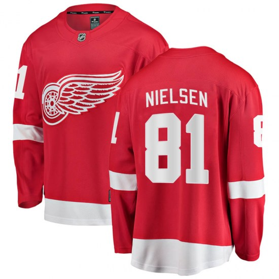Frans Nielsen Detroit Red Wings Breakaway Home Fanatics Branded Jersey - Red