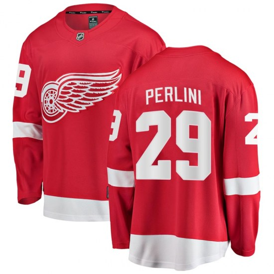 Brendan Perlini Detroit Red Wings Breakaway Home Fanatics Branded Jersey - Red
