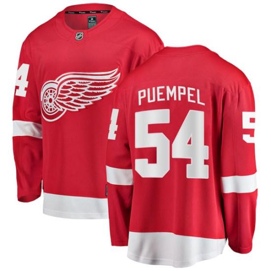 Matt Puempel Detroit Red Wings Breakaway Home Fanatics Branded Jersey - Red