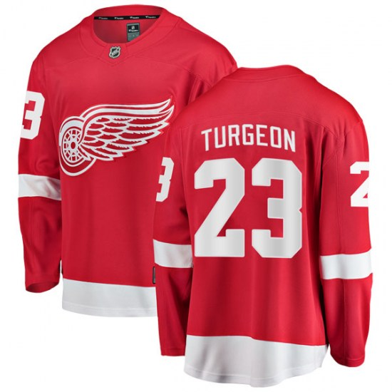 Dominic Turgeon Detroit Red Wings Breakaway Home Fanatics Branded Jersey - Red