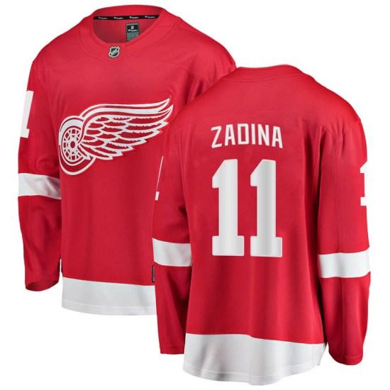 Filip Zadina Detroit Red Wings Breakaway Home Fanatics Branded Jersey - Red