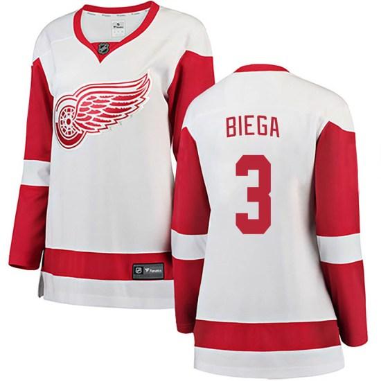 Alex Biega Detroit Red Wings Women's Breakaway Away Fanatics Branded Jersey - White