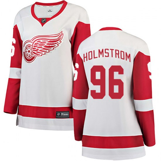 Tomas Holmstrom Detroit Red Wings Women's Breakaway Away Fanatics Branded Jersey - White