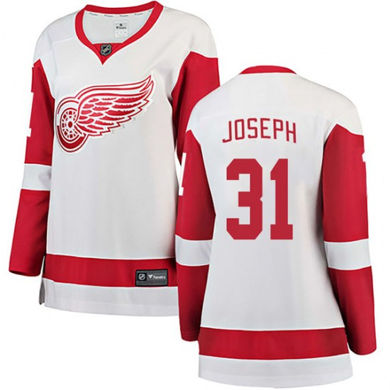 Curtis Joseph Detroit Red Wings Women's Breakaway Away Fanatics Branded Jersey - White