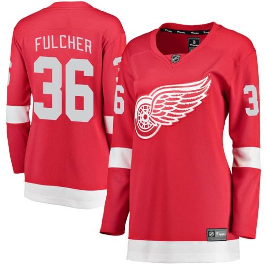 Kaden Fulcher Detroit Red Wings Women's Breakaway Home Fanatics Branded Jersey - Red