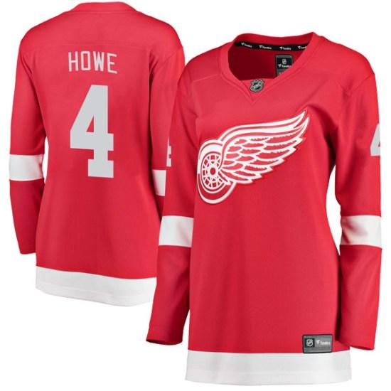 Mark Howe Detroit Red Wings Women's Breakaway Home Fanatics Branded Jersey - Red