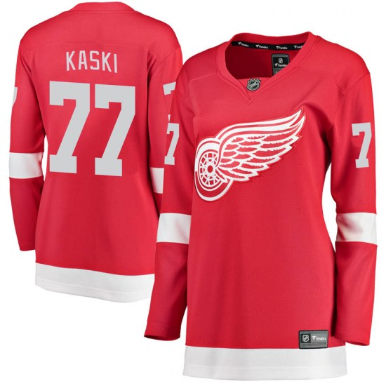 Oliwer Kaski Detroit Red Wings Women's Breakaway Home Fanatics Branded Jersey - Red