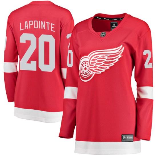 Martin Lapointe Detroit Red Wings Women's Breakaway Home Fanatics Branded Jersey - Red