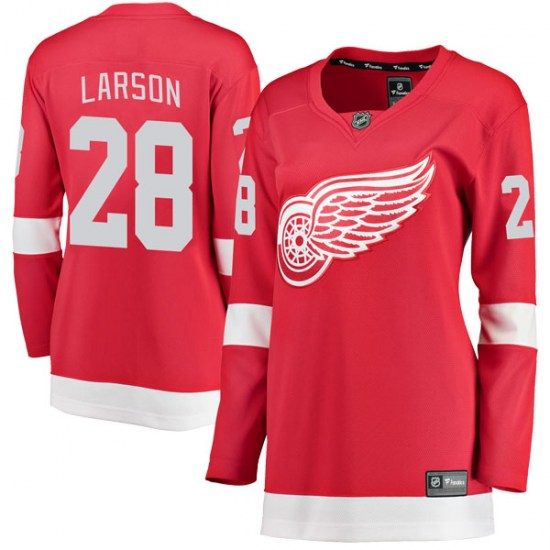 Reed Larson Detroit Red Wings Women's Breakaway Home Fanatics Branded Jersey - Red