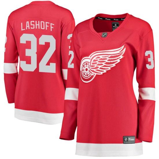 Brian Lashoff Detroit Red Wings Women's Breakaway Home Fanatics Branded Jersey - Red