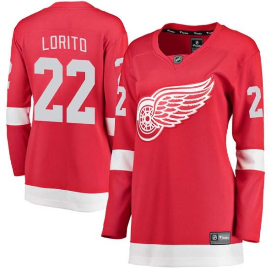 Matthew Lorito Detroit Red Wings Women's Breakaway Home Fanatics Branded Jersey - Red