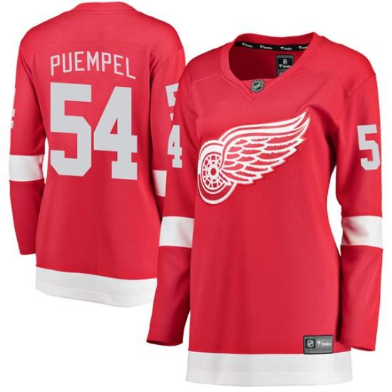 Matt Puempel Detroit Red Wings Women's Breakaway Home Fanatics Branded Jersey - Red
