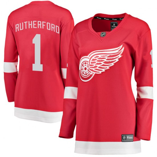 Jim Rutherford Detroit Red Wings Women's Breakaway Home Fanatics Branded Jersey - Red