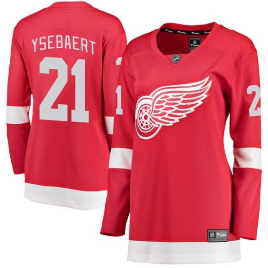 Paul Ysebaert Detroit Red Wings Women's Breakaway Home Fanatics Branded Jersey - Red
