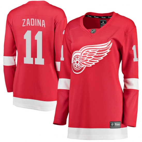 Filip Zadina Detroit Red Wings Women's Breakaway Home Fanatics Branded Jersey - Red