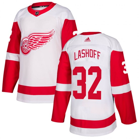 Brian Lashoff Detroit Red Wings Youth Authentic Adidas Jersey - White