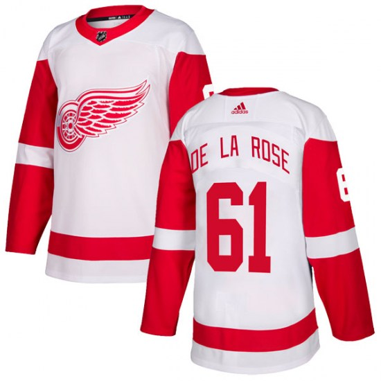Jacob De La Rose Detroit Red Wings Youth Authentic Adidas Jersey - White