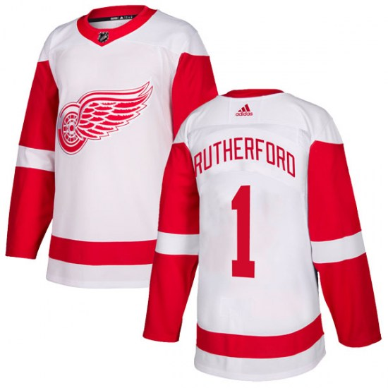 Jim Rutherford Detroit Red Wings Youth Authentic Adidas Jersey - White