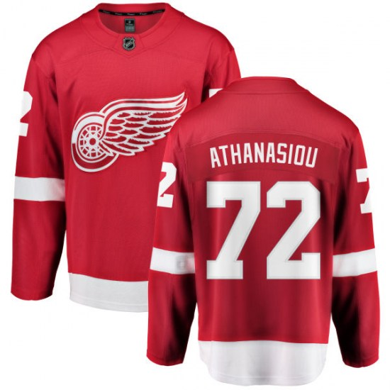 Andreas Athanasiou Detroit Red Wings Youth Breakaway Home Fanatics Branded Jersey - Red