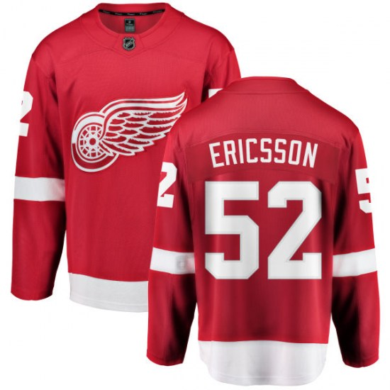 Jonathan Ericsson Detroit Red Wings Youth Breakaway Home Fanatics Branded Jersey - Red