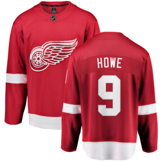 Gordie Howe Detroit Red Wings Breakaway Home Fanatics Branded Jersey - Red