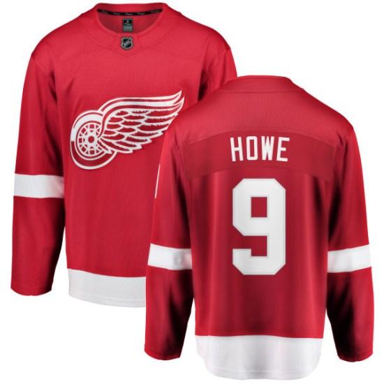 Gordie Howe Detroit Red Wings Youth Breakaway Home Fanatics Branded Jersey - Red