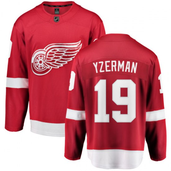 Steve Yzerman Detroit Red Wings Breakaway Home Fanatics Branded Jersey - Red