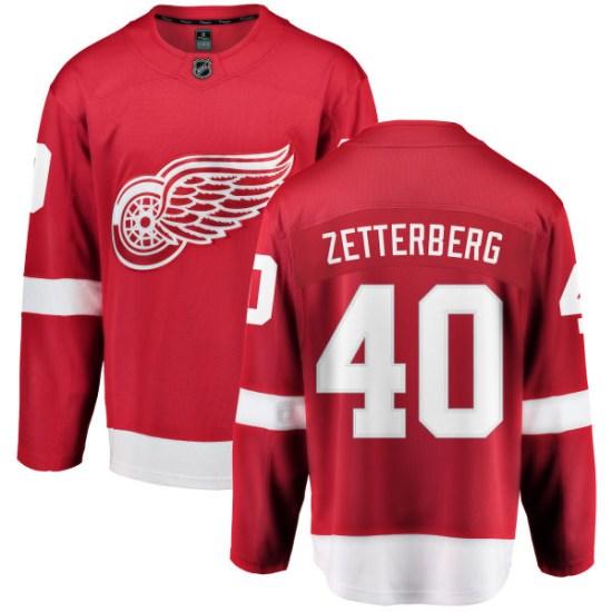 Henrik Zetterberg Detroit Red Wings Breakaway Home Fanatics Branded Jersey - Red