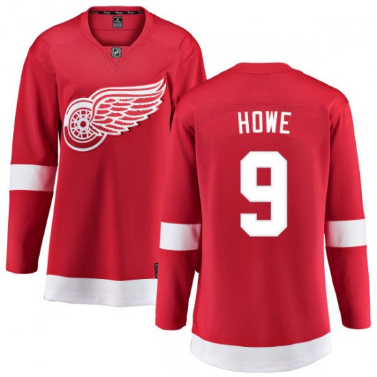 Gordie Howe Detroit Red Wings Women's Breakaway Home Fanatics Branded Jersey - Red