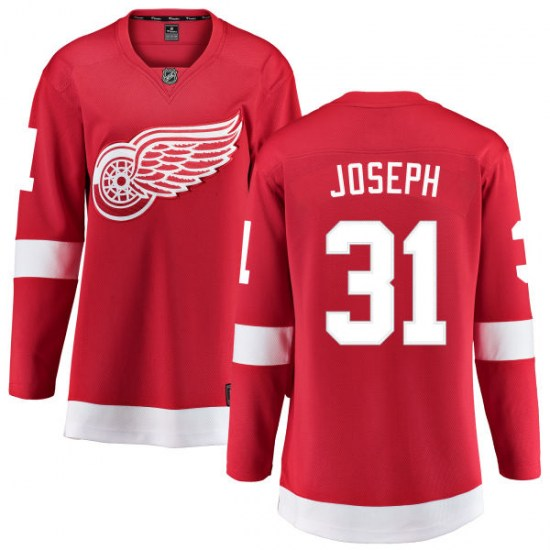 Curtis Joseph Detroit Red Wings Women's Breakaway Home Fanatics Branded Jersey - Red