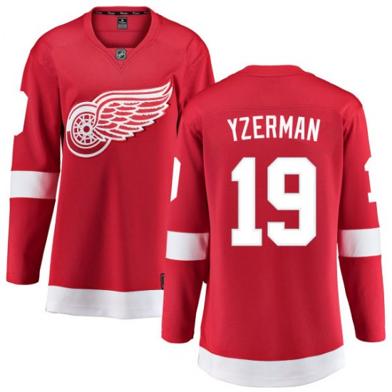 Steve Yzerman Detroit Red Wings Women's Breakaway Home Fanatics Branded Jersey - Red
