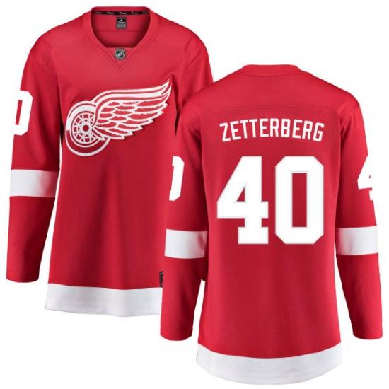 Henrik Zetterberg Detroit Red Wings Women's Breakaway Home Fanatics Branded Jersey - Red