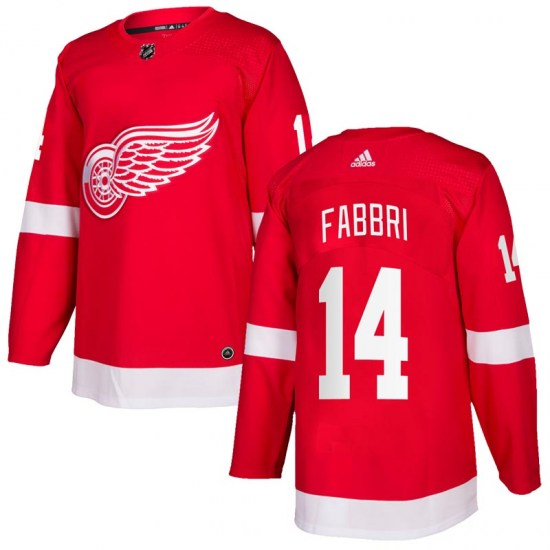 Robby Fabbri Detroit Red Wings Youth Authentic Home Adidas Jersey - Red