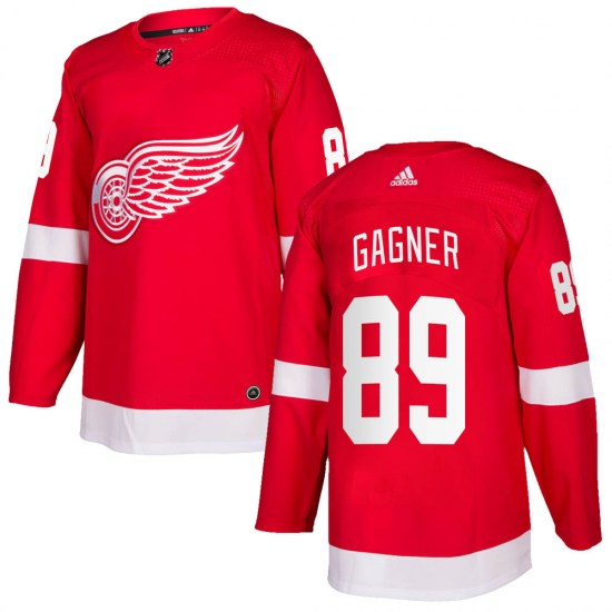 Sam Gagner Detroit Red Wings Youth Authentic ized Home Adidas Jersey - Red