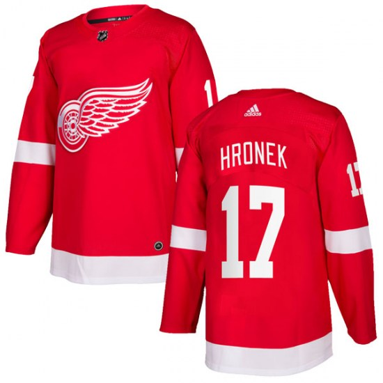 Filip Hronek Detroit Red Wings Youth Authentic Home Adidas Jersey - Red