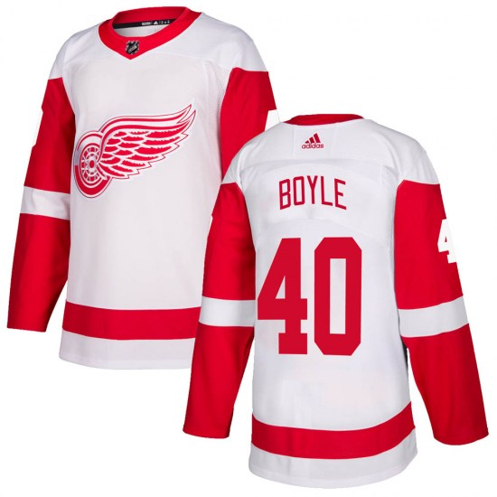 Kevin Boyle Detroit Red Wings Authentic Adidas Jersey - White