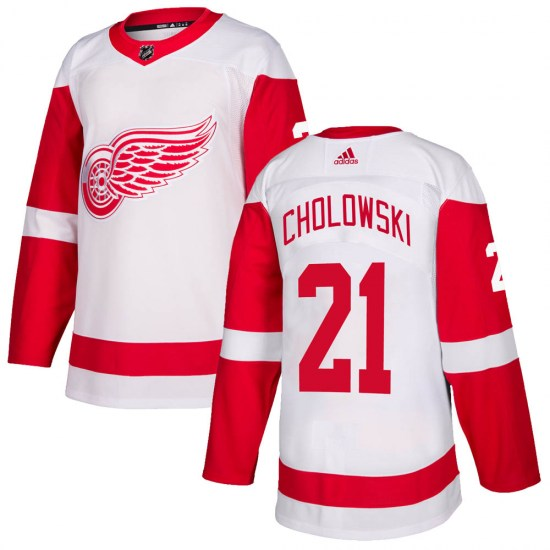 Dennis Cholowski Detroit Red Wings Authentic Adidas Jersey - White