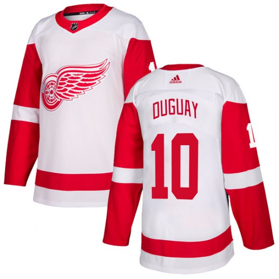 Ron Duguay Detroit Red Wings Authentic Adidas Jersey - White