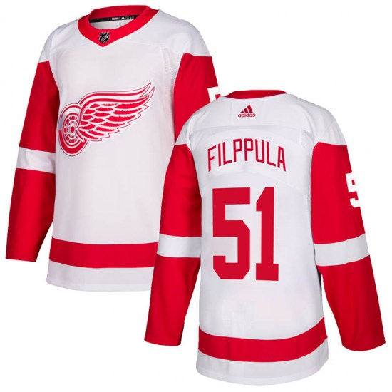 Valtteri Filppula Detroit Red Wings Authentic Adidas Jersey - White